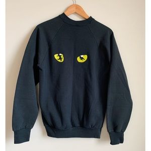 Vintage 80's Cats Musical Sweatshirt